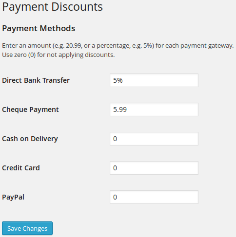 woocommerce-payment-discounts screenshot 1