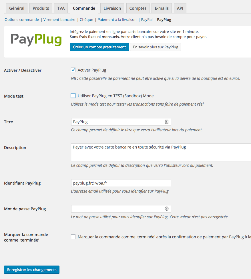 woocommerce-payplug screenshot 1