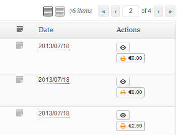 WooCommerce PostNL Parcelware adds a button and shipping costs to the order overview page