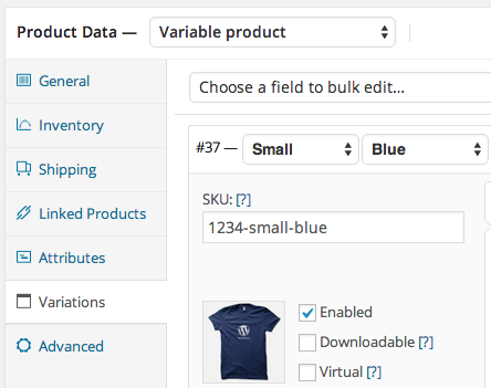 Variation SKU generated when you set the parent SKU (if you only generate variation SKUs)