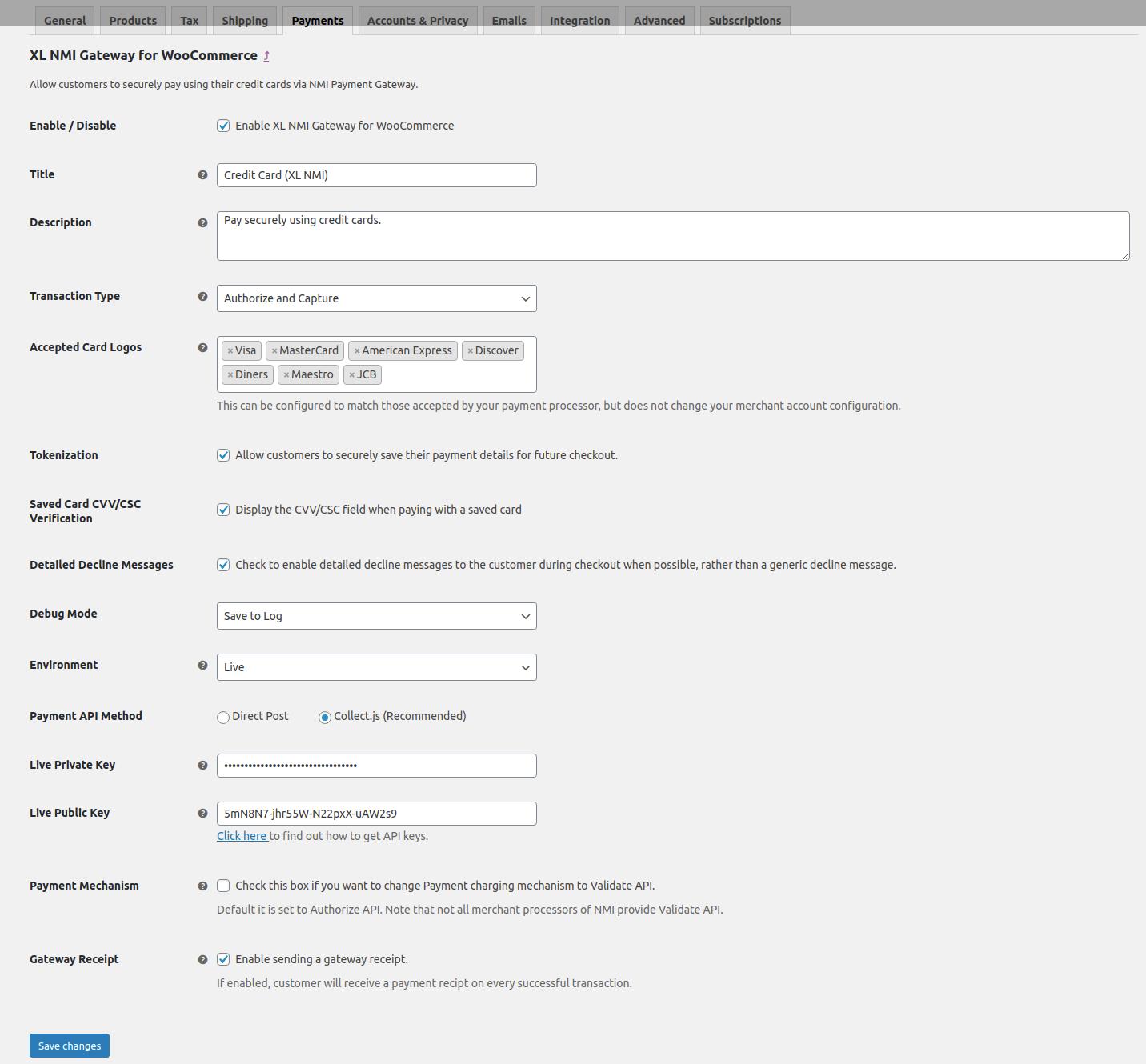 Manage Gateway Settings