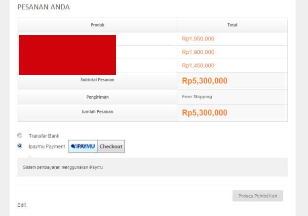 This is how the plugin in action, the buyer will send to ipaymu to complete payment.