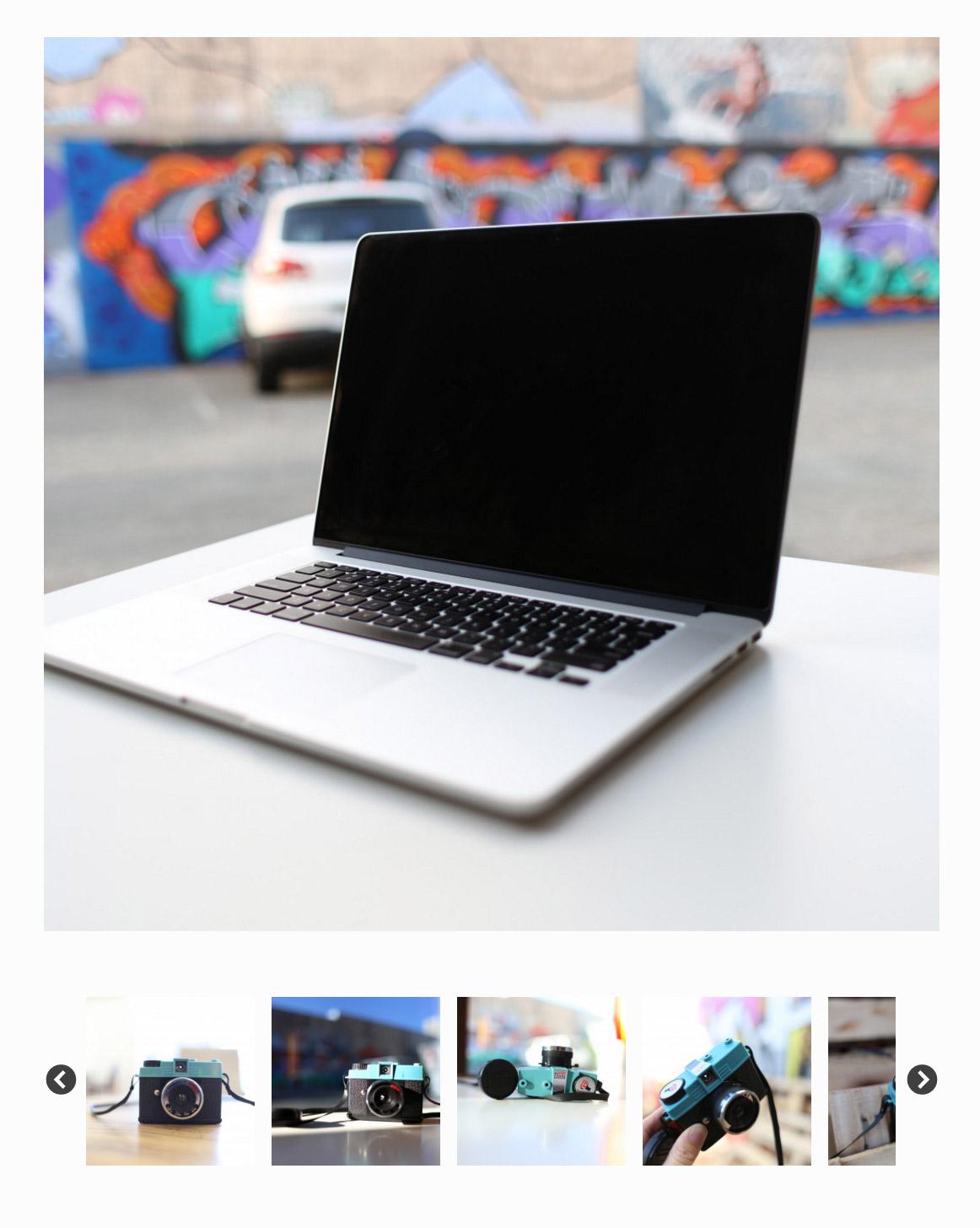 Screenshot Default gallery layout