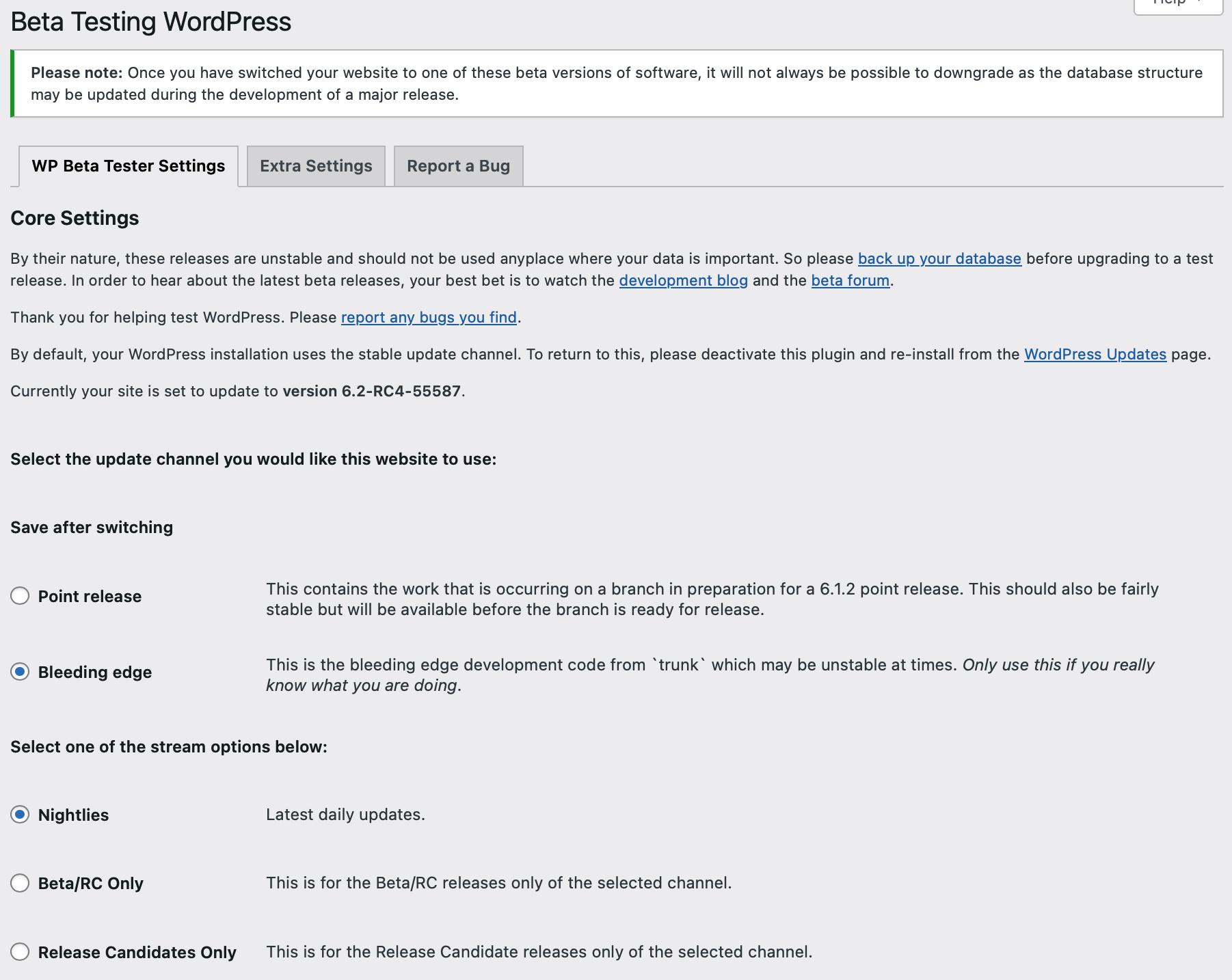 WordPress Beta Tester – WordPress plugin | WordPress org