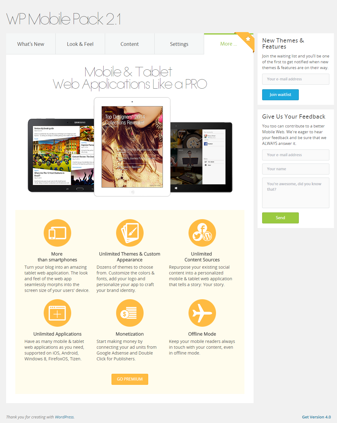 wordpress-mobile-pack screenshot 11
