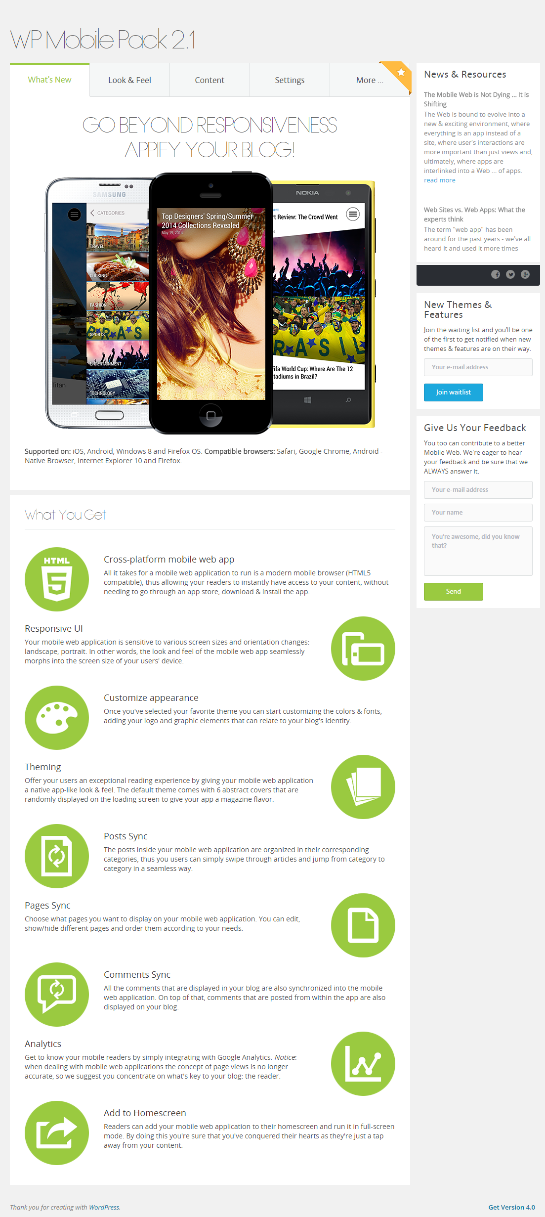 wordpress-mobile-pack screenshot 7