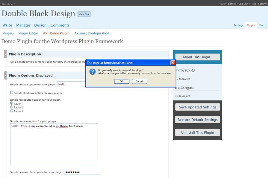<p>WPF Demo Plugin uninstall option.</p>