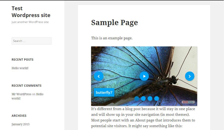 Preview changes. Use WOW Slider menu WOW Slider -> Add New to add each next slider