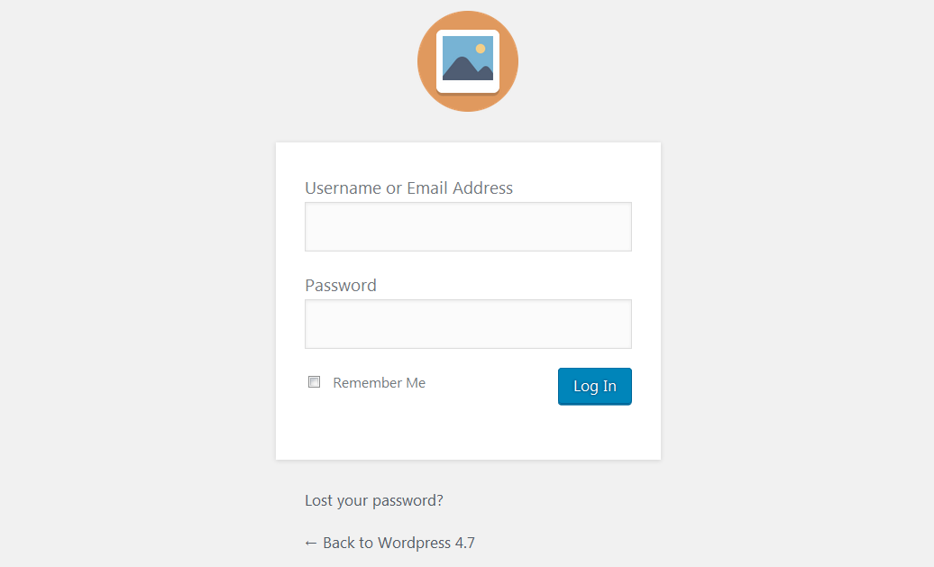 Viewing WP admin with <strong>WP Admin Logo Changer</strong> plugin