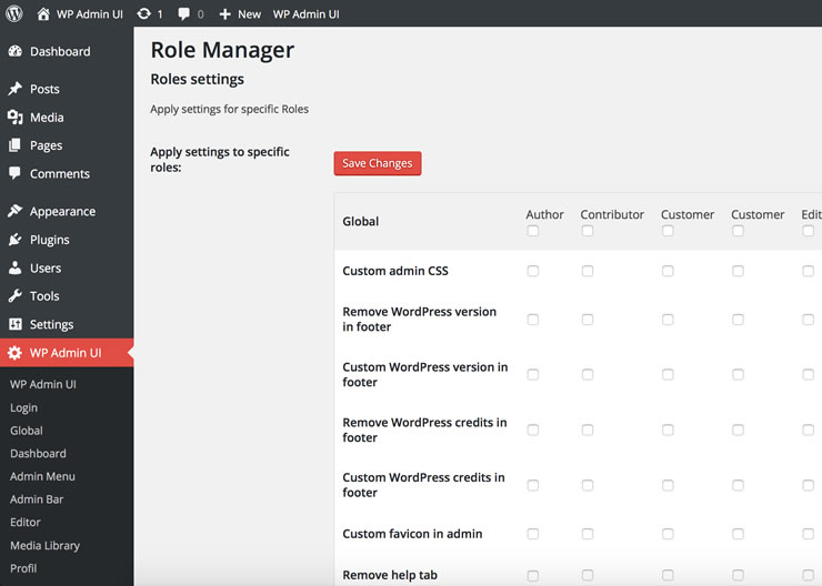 WP Admin UI Role Manager