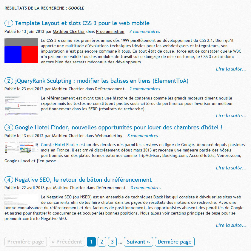 Exemple d'usage complet (for example : complete usage of plugin).