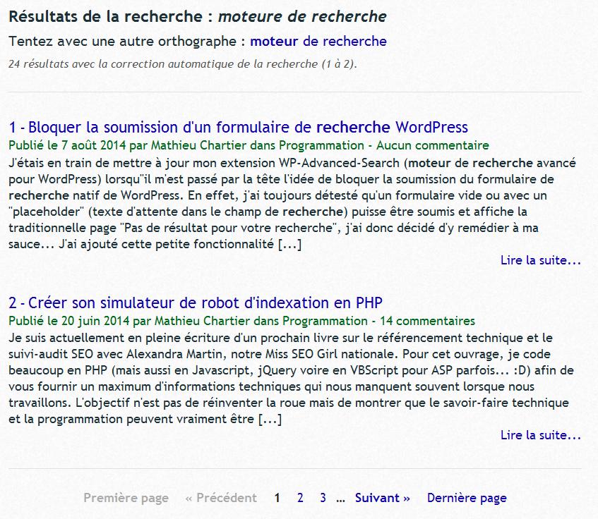 "Thème graphique complet ""Google style"" (complete template 'Google style')."