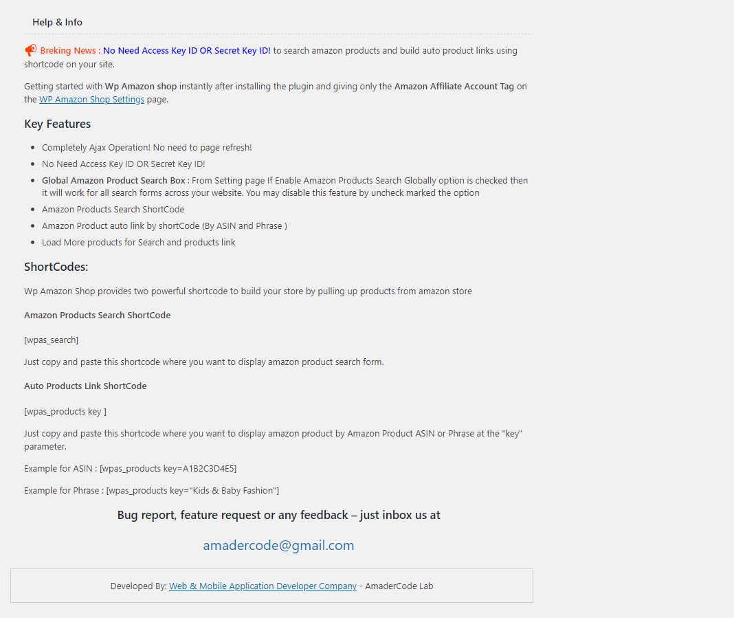 WP Amazon Shop for Dropshipping & Affiliation – WordPress plugin