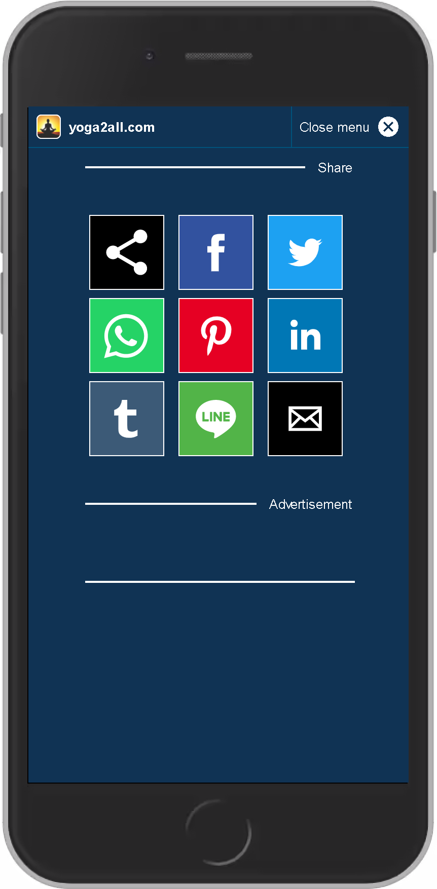 AMP Example for share-function/share-menu