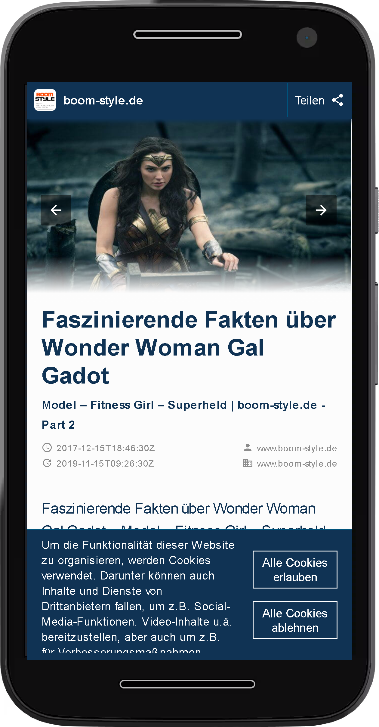 Accelerated Mobile Pages Beispiel Header