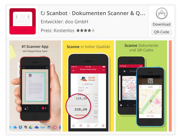 App-Badge mit Screenshots