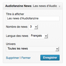 wp-audiofanzine-news screenshot 1
