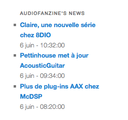 wp-audiofanzine-news screenshot 3