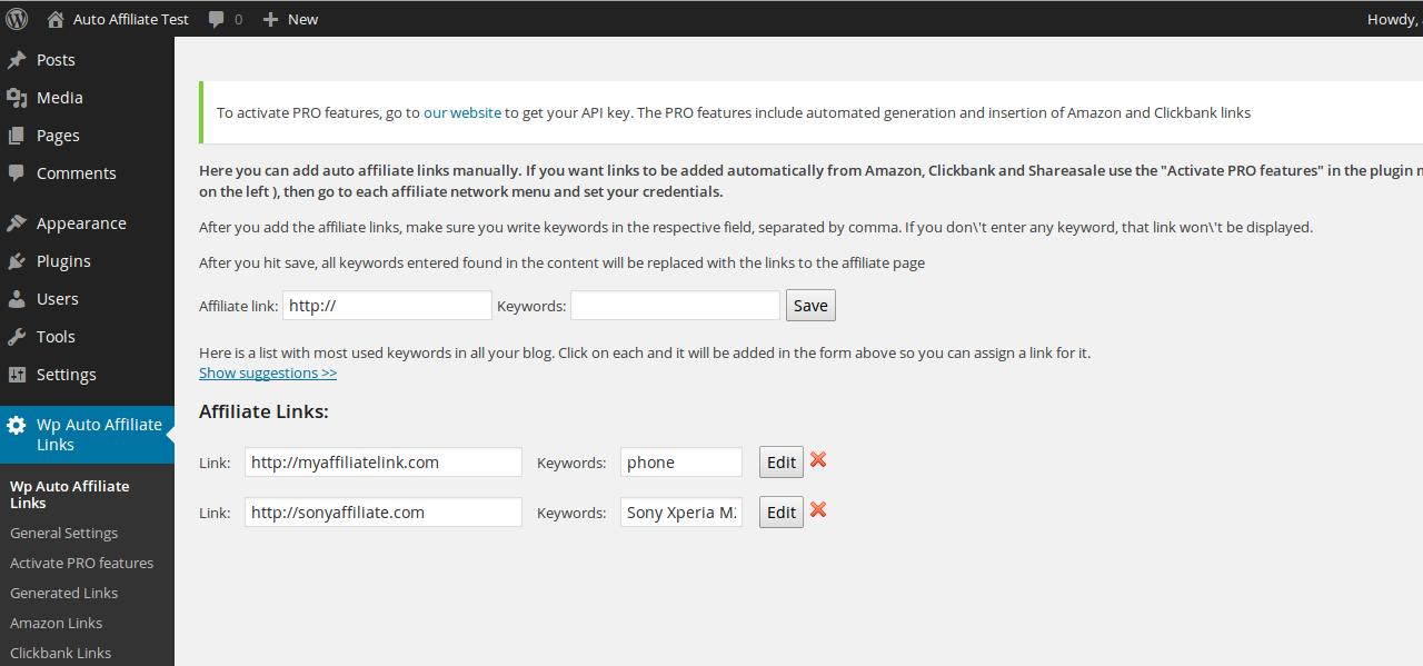 Auto Affiliate Links – WordPress plugin | WordPress org
