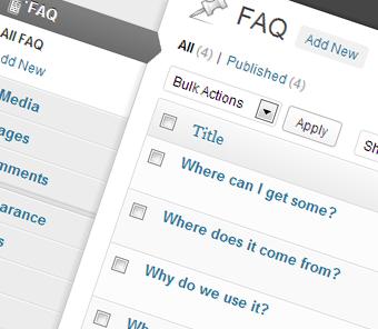 FAQ Posts lists