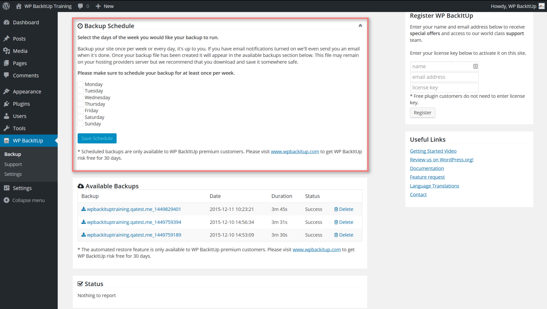 Backup and Restore WordPress – Backup Plugin – WordPress