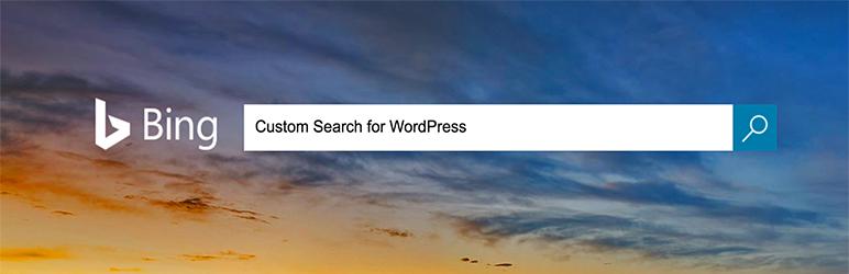 Bing Custom Search for WordPress