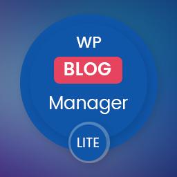 Plugin to Manage / Design WordPress Blog – WP Blog Manager Lite