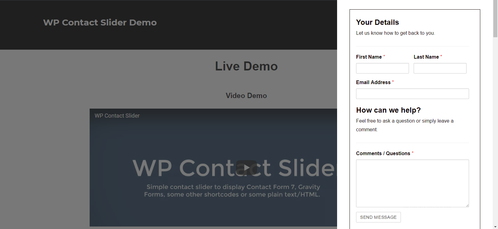 WP Contact Slider – WordPress plugin | WordPress org