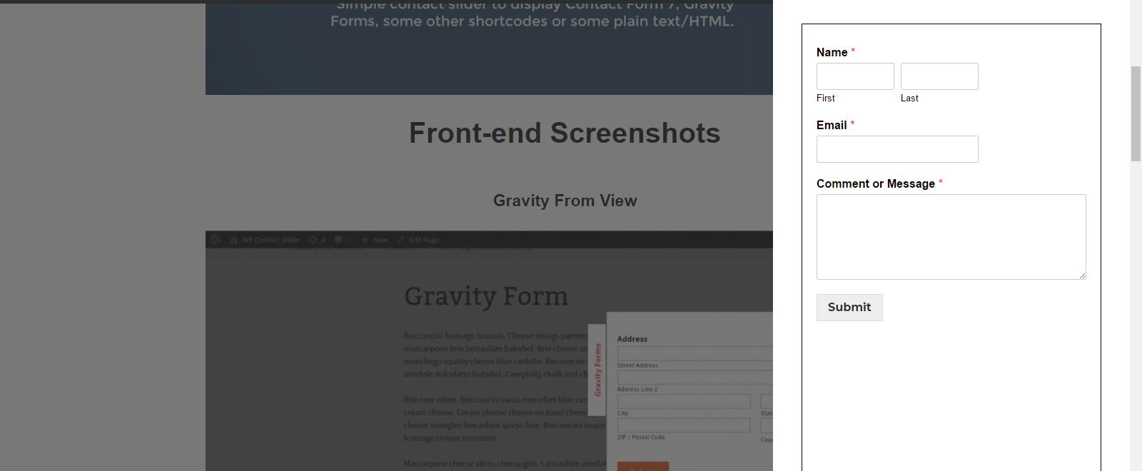 WP Contact Slider – WordPress plugin | WordPress org