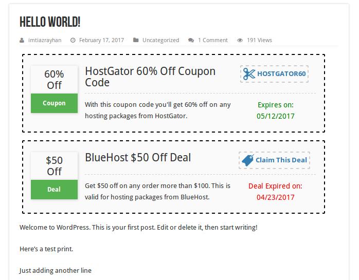 WordPress Coupon Plugin – WP Coupons and Deals
