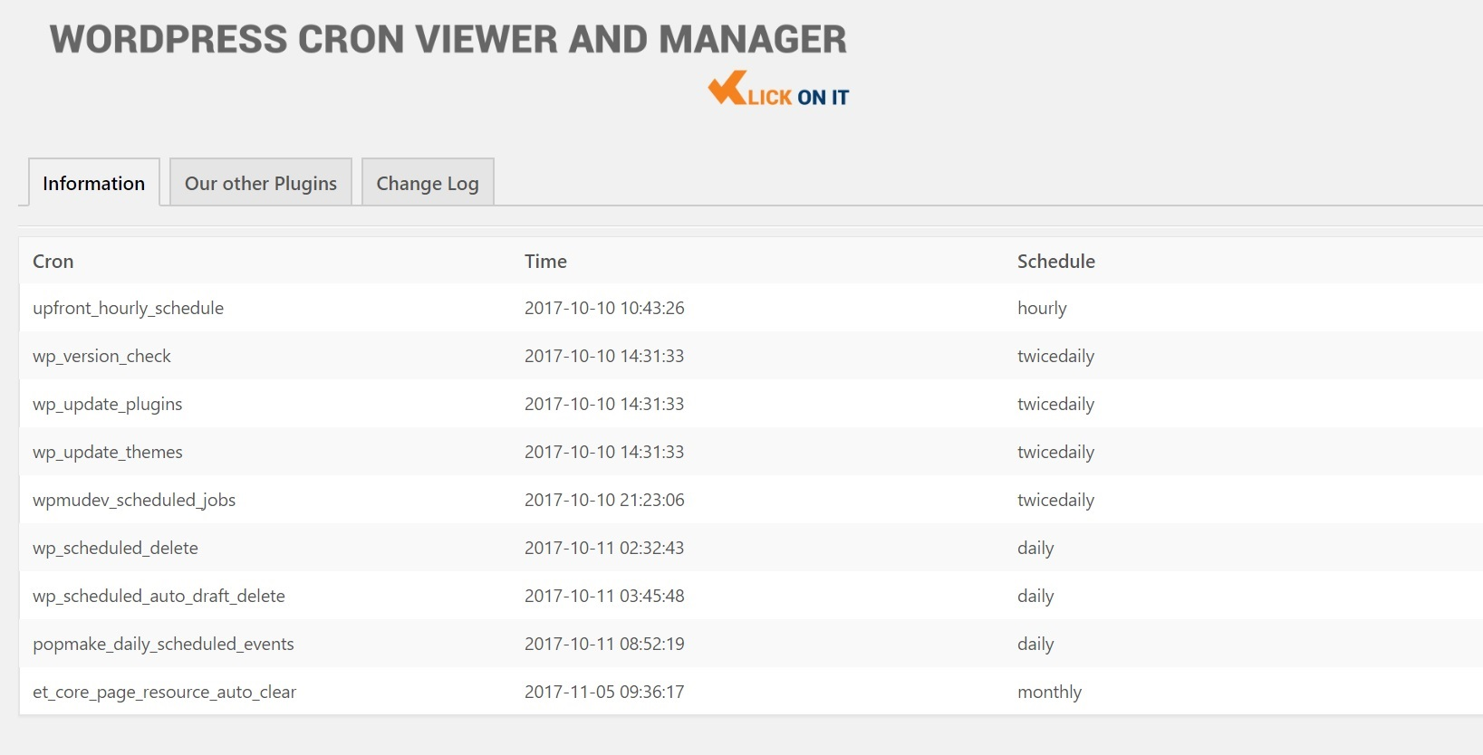WP Cron Viewer and Manager
