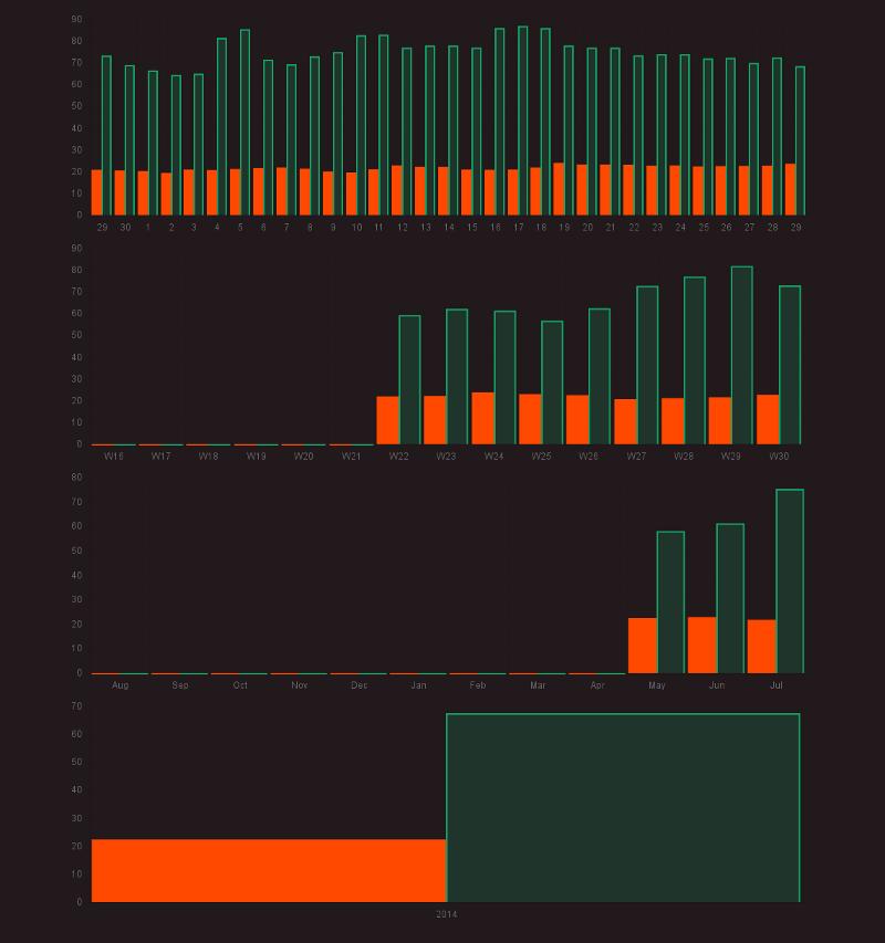 Bar chart with different <em>interval</em>