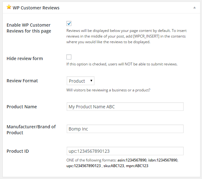 wp-customer-reviews screenshot 10