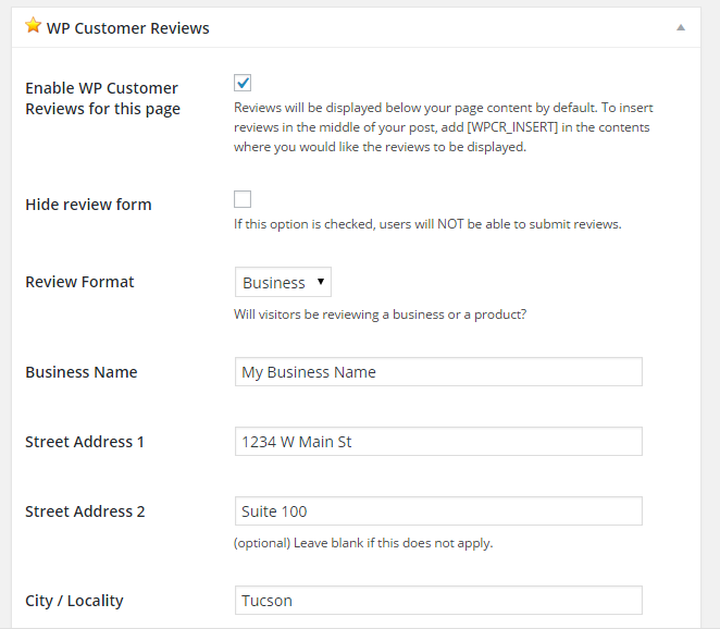 wp-customer-reviews screenshot 9