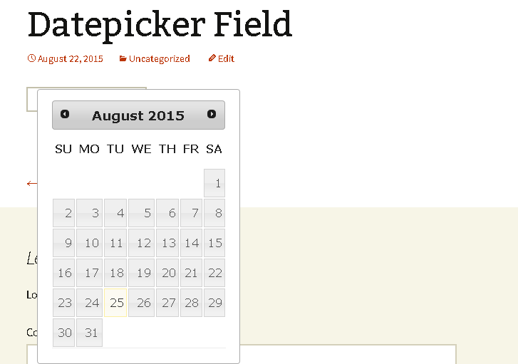 WP Datepicker – WordPress plugin | WordPress org