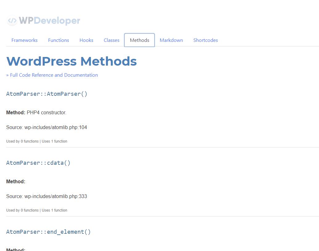 WordPress Methods