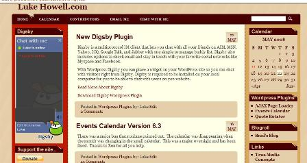 Digsby Chat Window in Sidebar.