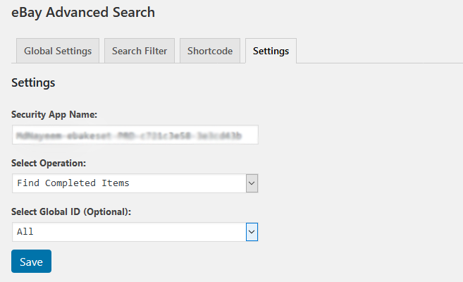 WP eBay Advanced Search