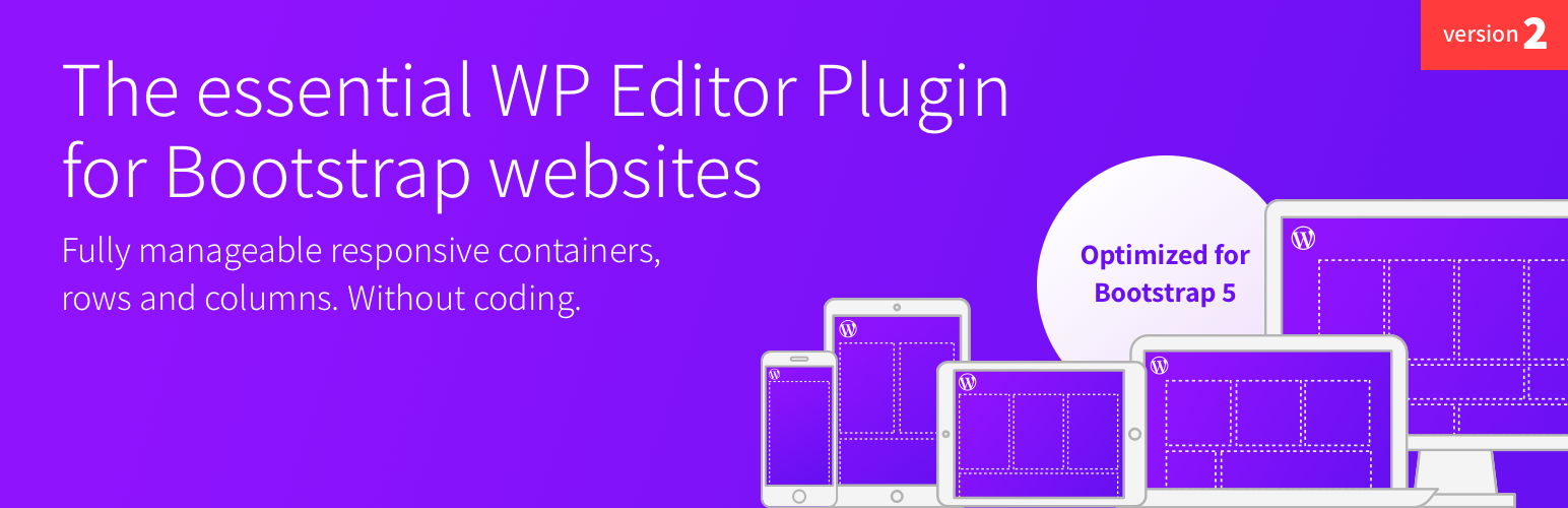 Bootstrap blocks for WP Editor