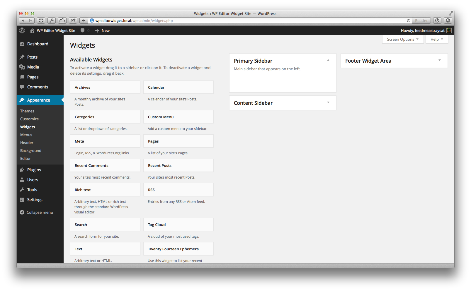 Wp Editor Widget Wordpress Org