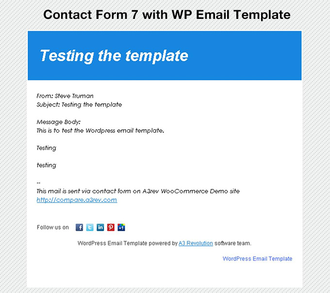 WP Email Template — WordPress Plugins