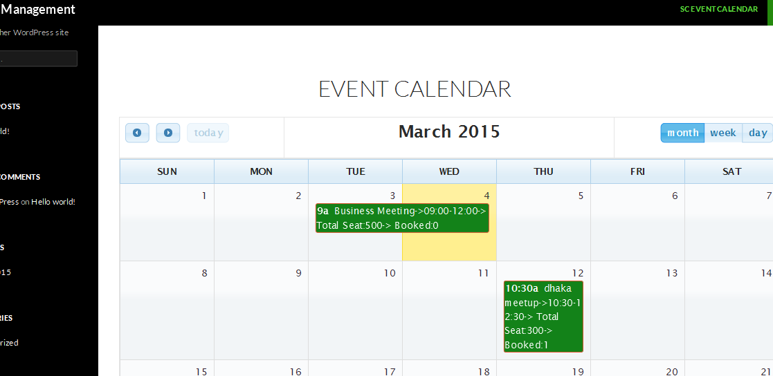 wordpress Event booking Manager | WordPress.org