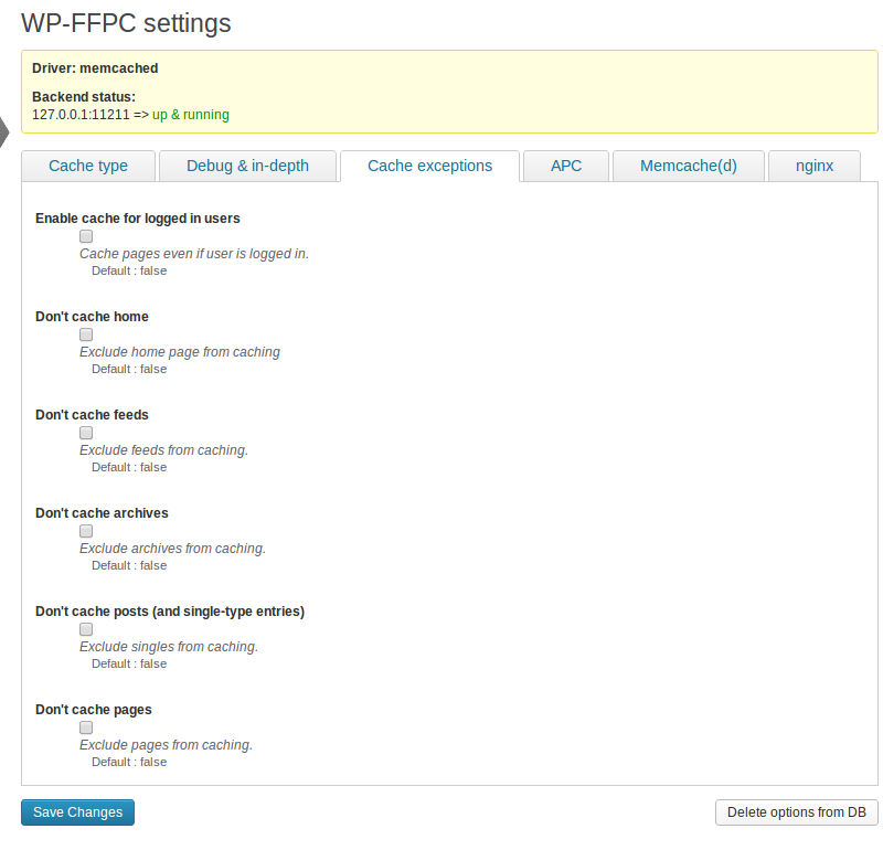 wp-ffpc screenshot 3