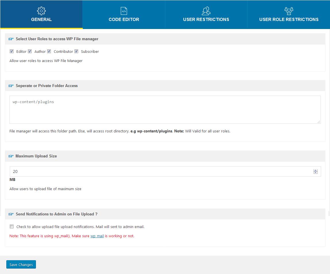 File Manager – WordPress plugin   WordPress org