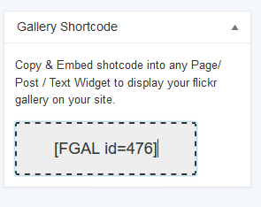 Flickr Shortcode