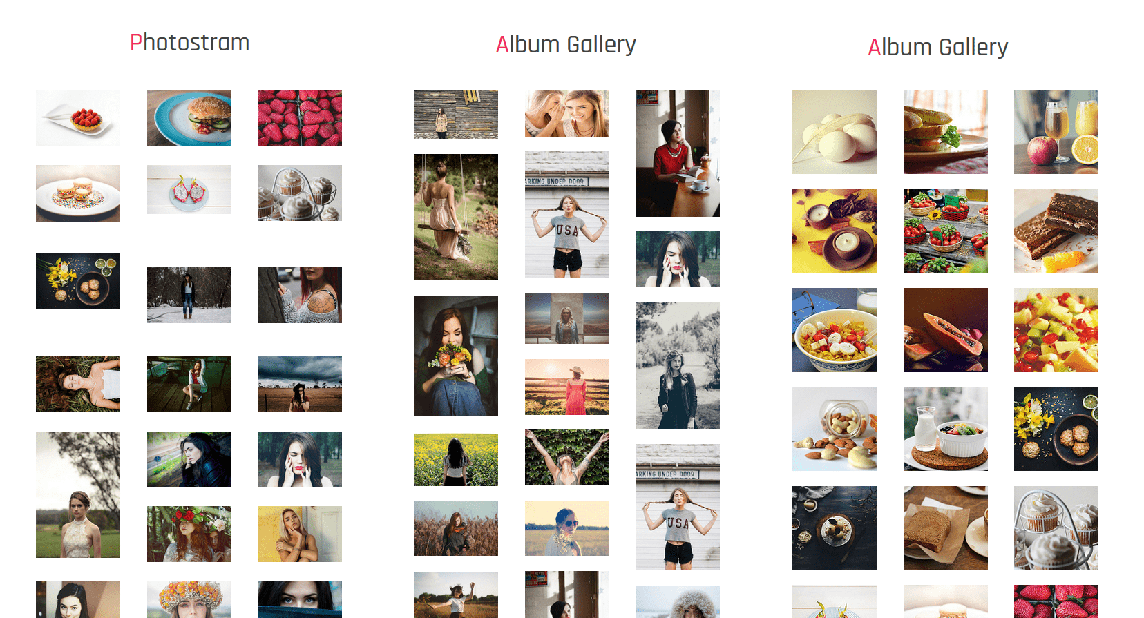 Multiple Gallery Into Footer