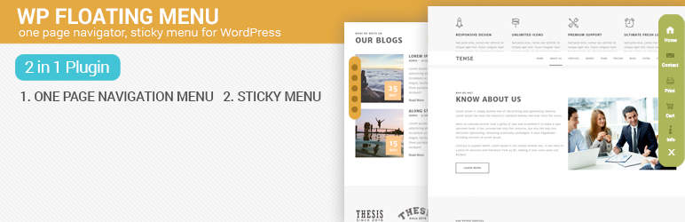 WP Floating Menu – One page navigator, sticky menu for WordPress