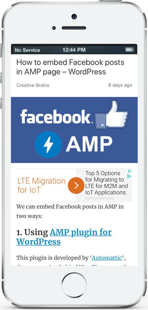 Embed Facebook post in AMP