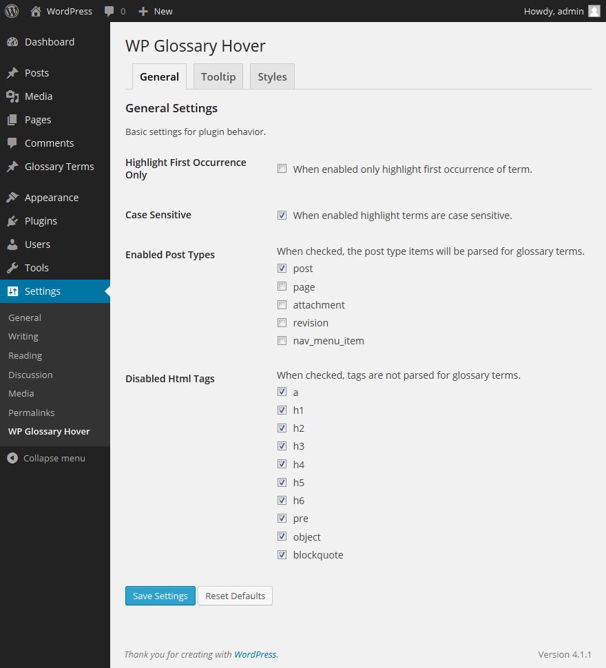 登録した用語へマウスオーバーした際に説明をポップアップ表示するプラグイン「WP Glossary Hover」の画像|Knowledge Base