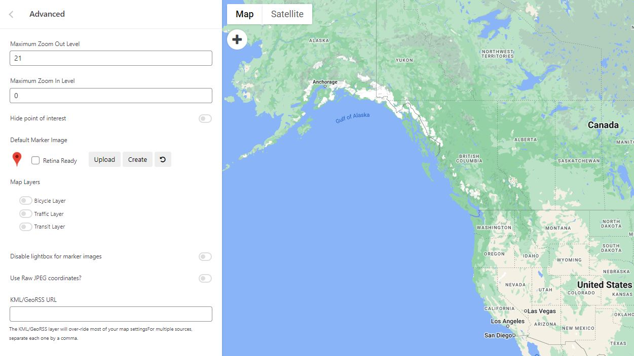 WP Google Maps Pro version: Advanced Google map options.